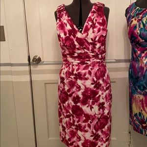 Alex Marie sleeveless floral in fuchsia size 10